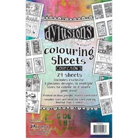 Dylusions Colouring Sheets #3 24pc by Dyan Reaveley