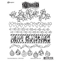 Dylusions Stamp Christmas Borders