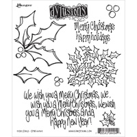 Dylusions Stamp Holly Days