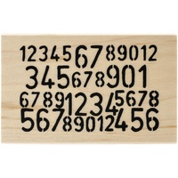 Dylusions Stamp Wood Mount Numbers Game