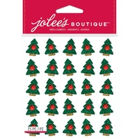 Jolees Boutique Dimensional Stickers Christmas Trees