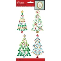 Jolees Boutique Dimensional Stickers Bling Watercolour Christmas Tree