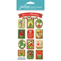 Jolees Boutique Dimensional Stickers 12 Days of Christmas