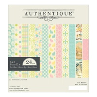 "Authentique 6x6"" Double Sided Cardstock Pad Springtime 24pg"