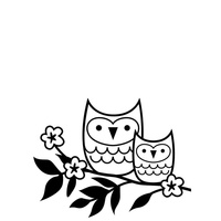 Darice Embossing Folder A2 Owls on a Twig