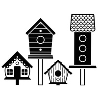Darice Embossing Folder A2 Birdhouses on Posts