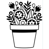 Darice Embossing Folder A2 Flowers in Pot