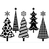 Darice Embossing Folder A2 Fun Christmas Trees