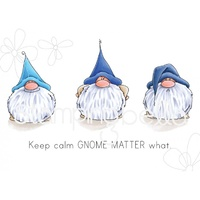 Stamping Bella Cling Stamp Gnomes Have Feelings Too