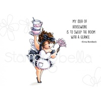 Stamping Bella Cling Stamp Edna Loves to Sweep