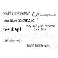Stamping Bella Cling Stamp Birthday Sentiment