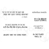Stamping Bella Cling Stamp Adventure Sentiment