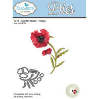 Elizabeth Craft Designs Die Garden Notes Poppy by Susan Tierney Cockburn