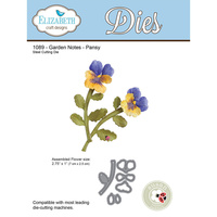 Elizabeth Craft Designs Die Garden Notes Pansy by Susan Tierney Cockburn