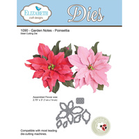 Elizabeth Craft Designs Die Garden Notes Poinsettia by Susan Tierney Cockburn