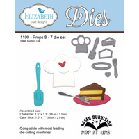 Elizabeth Craft Designs Die Props 8 (7pc) - Coffee & Cake Collection by Karen Burniston