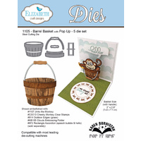 Elizabeth Craft Designs Die Barrel and Basket (5 Piece) by Karen Burniston