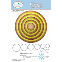 Elizabeth Craft Designs Die Stitched Circles (8 Piece) by Els van de Burgt