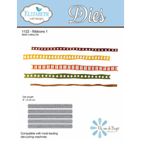 Elizabeth Craft Designs Die Ribbons 1 (5 Piece) by Els van de Burgt