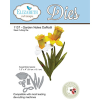 Elizabeth Craft Designs Die Garden Notes Daffodil (7 Piece by Susan Tierney Cockburn