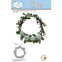 Elizabeth Craft Designs Die Garden Notes Grapevine Wreath Round by Susan T Cockburn
