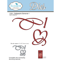 Elizabeth Craft Designs Die A Way With Words Calligraphic Elements 1 by Suzanne Cannon