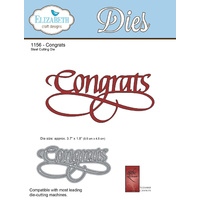 Elizabeth Craft Designs Die A Way With Words Congrats by Suzanne Cannon