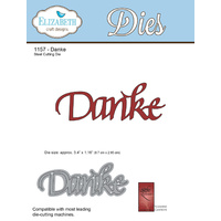 Elizabeth Craft Designs Die A Way With Words Danke by Suzanne Cannon