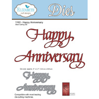 Elizabeth Craft Designs Die A Way With Words Happy Anniversary by Suzanne Cannon