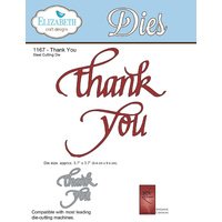 Elizabeth Craft Designs Die A Way With Words Thank You by Suzanne Cannon