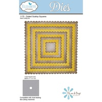 Elizabeth Craft Designs Die Dotted Scallop Squares by Els van de Burgt Studio