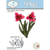 Elizabeth Craft Designs Die Garden Notes Amaryllis by Susan Tierney Cockburn