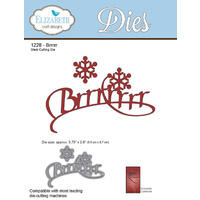 Elizabeth Craft Designs Die A Way With Words Brrrrr by Suzanne Cannon