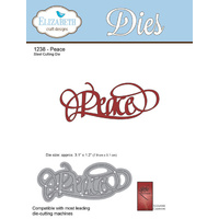 Elizabeth Craft Designs Die A Way With Words Peace by Suzanne Cannon