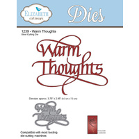 Elizabeth Craft Designs Die A Way With Words Warm Thoughts by Suzanne Cannon