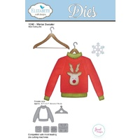 Elizabeth Craft Designs Die Winter Sweater by Joset Designs
