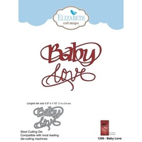 Elizabeth Craft Designs Die A Way With Words Baby Love by Suzanne Cannon