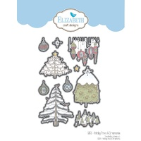 Elizabeth Craft Designs Die Holiday Trees & Ornaments by Krista Schneider