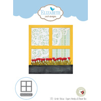 Elizabeth Craft Designs Die Garden Notes Square Window & Flower Box by Susan Tierney-Co
