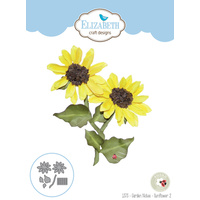 Elizabeth Craft Designs Die Garden Notes Sunflower 2 by Susan Tierney-Cockburn