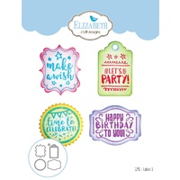 Elizabeth Craft Designs Die Labels #1 by Joset Designs