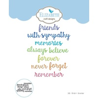 Elizabeth Craft Designs Die Words 4 Remember
