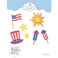 Elizabeth Craft Designs Die 4th of July by Joset Design