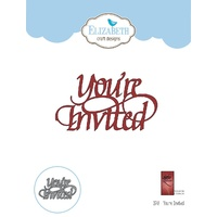 Elizabeth Craft Designs A Way with Words Die You're Invited