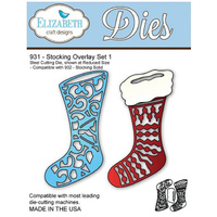 Elizabeth Craft Designs Die Stocking Overlay Set 1 by Els van de Burgt Studio