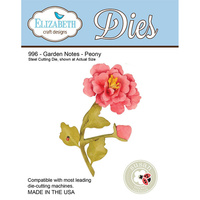 Elizabeth Craft Designs Die Garden Notes Peony by Susan Tierney Cockburn