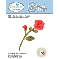 Elizabeth Craft Designs Die Garden Notes Rose 2 by Susan Tierney Cockburn