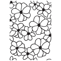Kaisercraft Havana Nights Embossing Folder Flowers