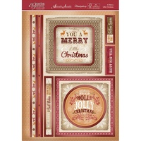 Hunkydory A4 Topper Set Festive Elegance Merry Little Christmas