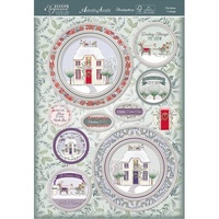 Hunkydory A4 Topper Set Festive Elegance Christmas Cottage